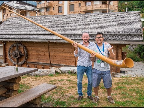 So we tried playing the Alphorn at the International Alphorn Festival 2017