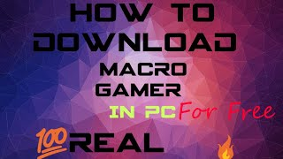 How to download and use Macro (in tamil)