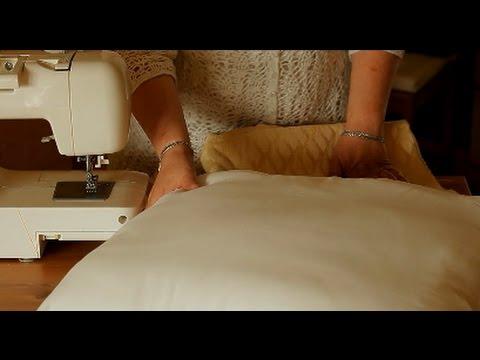 Простой способ сшить декоративную наволочку своими руками (наволочка на подушку мастер класс).