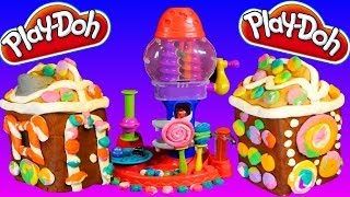 Play Doh Gingerbread House Do It Yourself Play Dough Tutorial with Sweet Shoppe Candy Cyclone!