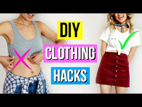 4 Simple Clothing Hacks to Try When You're Bored!