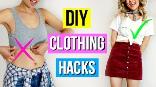 5 Minute DIY Clothing Hacks EVERY Girl Must Know!