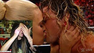 WWE Raw 5/18/15 Lana KISSES Dolph Ziggler