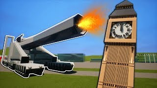 Massive Lego Cannon Takes Out Big Ben! - Brick Rigs Funny Moments Gameplay