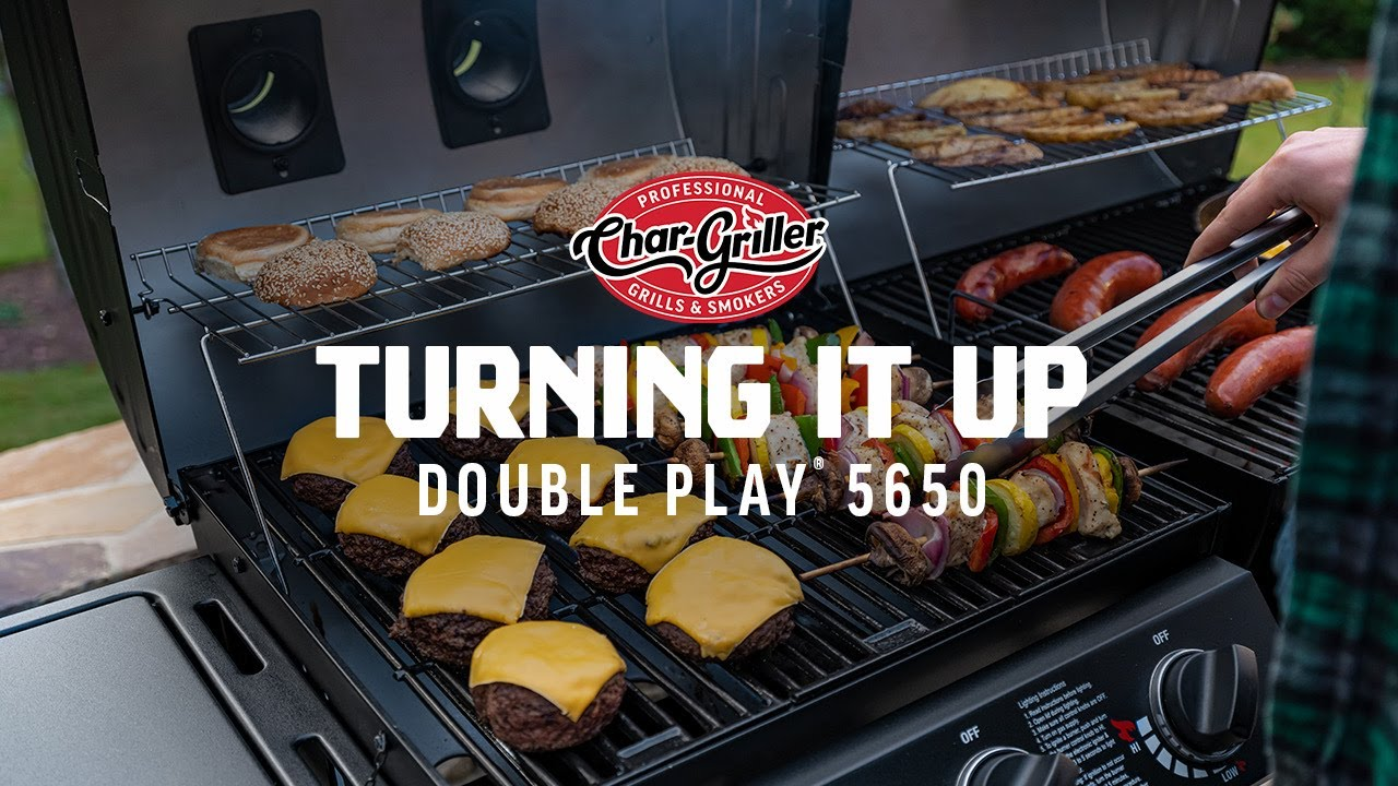 Dual Fuel Charcoal And Gas Grill Turning It Up Double Play 5650 Char Griller