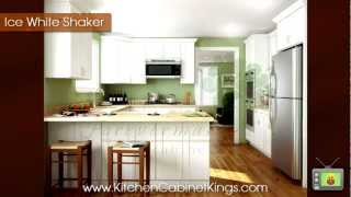 Ice White Shaker Kitchen Cabinets By Kitchen Cabinet Kings