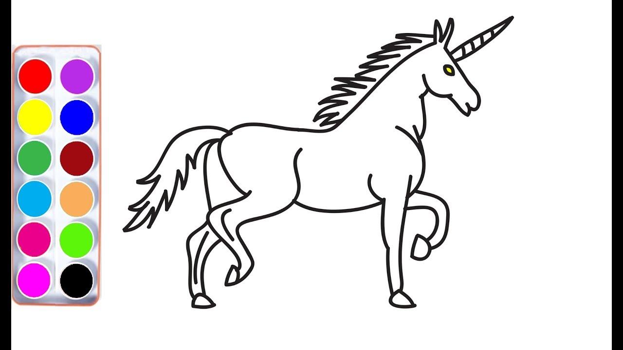 How to draw unicorn | unicorn coloring | unicorn drawing ...