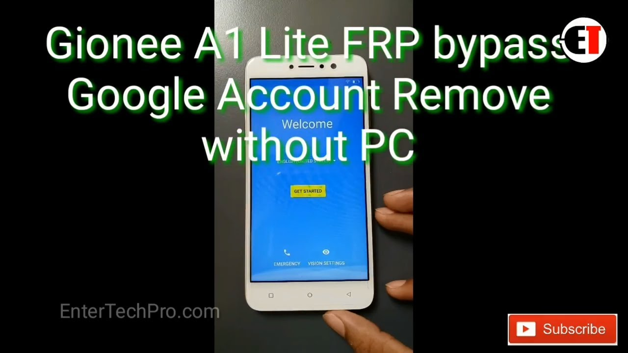 Gionee A1 lite FRP Unlock or Google Bypass without PC