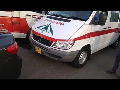 Ambulance who carried kalsoom Nawaz Dead body to shift raiwand
