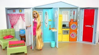 Barbie House Unboxing & Setup! Barbie Real House Rumah boneka Barbie Casa de boneca