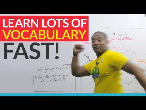 Learn 10 times more vocabulary by using Word Webs!
