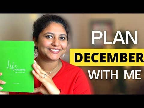 Plan December 2020 with me | Plan your December set monthly goals with me| Interactive plan with me