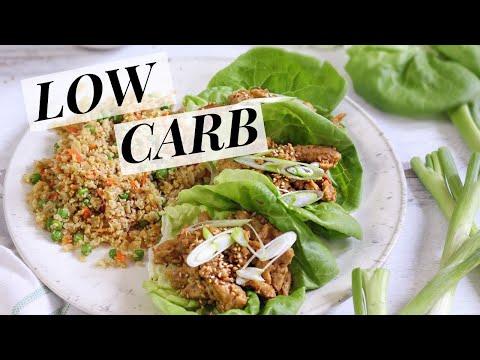 VEGAN Asian Lettuce Wraps + Cauliflower Fried Rice