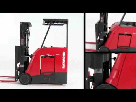Stand Up Counterbalanced Lift Truck Raymond Corp Youtube