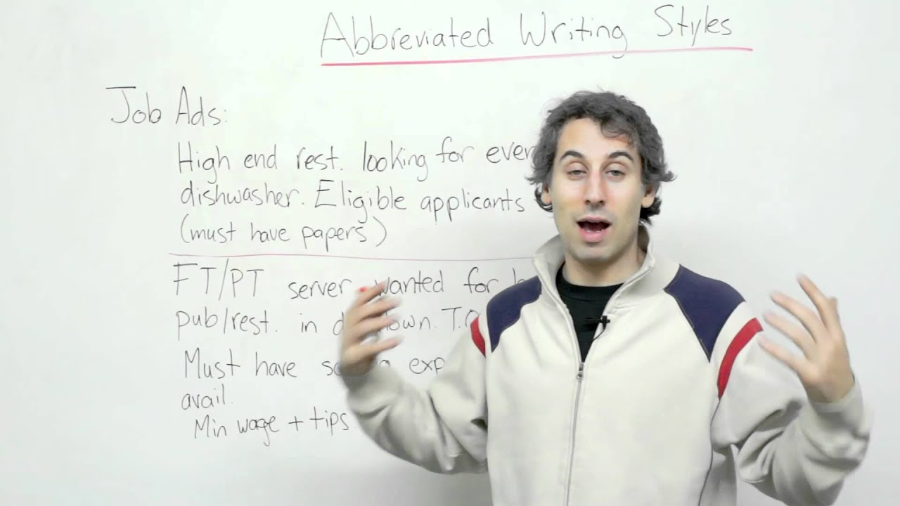 How to read job ads in English - Understanding abbreviated writing styles