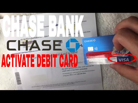 ✅  How To Activate Chase Bank Debit Card 🔴