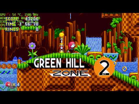 Sonic Mania PC version Knuckles Gameplay
