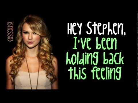 """Hey Stephen"" by Taylor Swift (lyrics)"