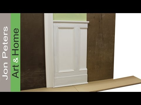 Tips on designing and installing chair rail and panel molding by Jon Peters