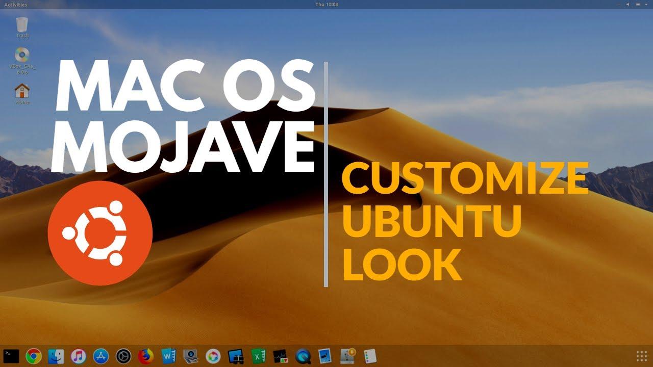 MacOS THEME: How to make UBUNTU look like Mac OS Mojave (2019)