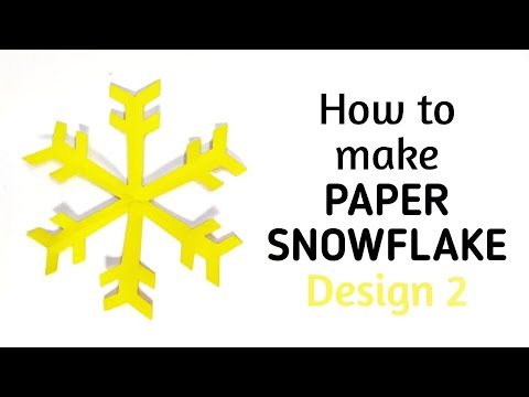 How To Make Simple Easy Paper Snowflake