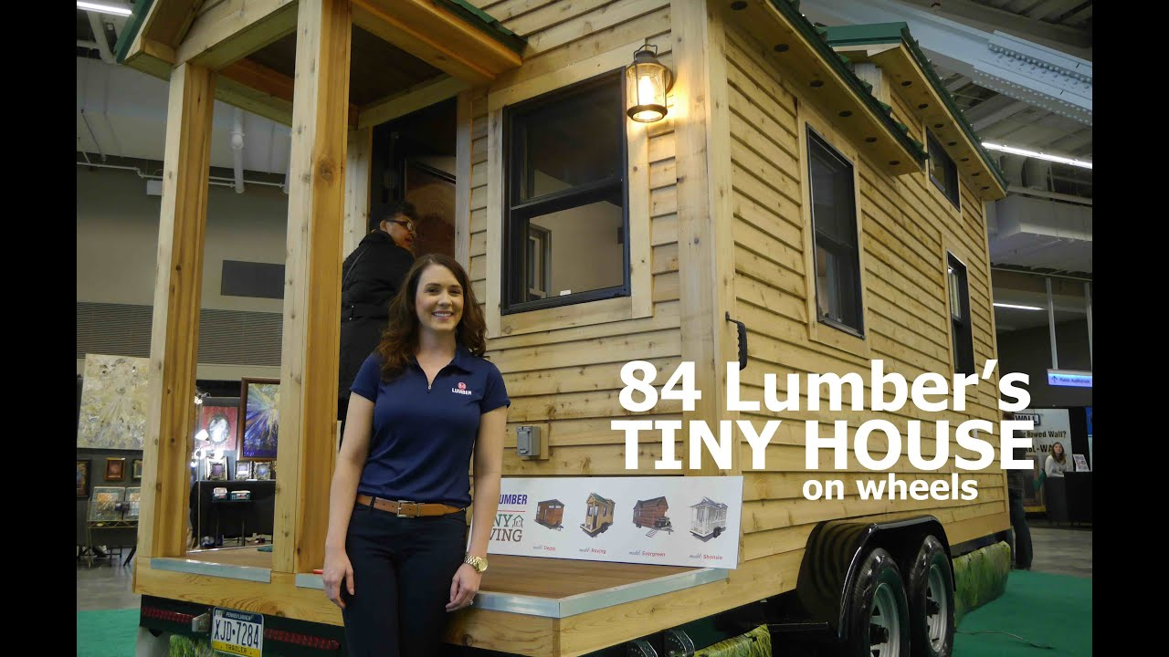84 Lumbers NEW tiny house on wheels YouTube