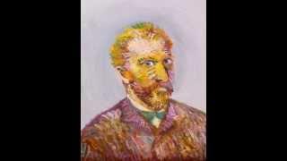 ゴッホの生前の写真を基に、ゴッホの肖像画(油絵)を描きました。 ゴッ...