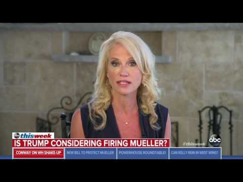 Kellyanne Conway repeatedly says Trump has not discussed firing Robert Mueller