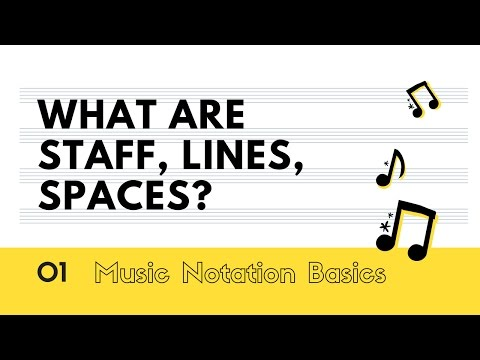 What Are Staff, Lines, Spaces - Complete Notation Basics 1#
