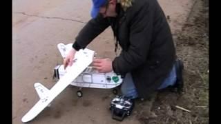 Junkers EF 128 pusher take off landing