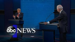 Final presidential debate shows starkly different views of COVID-19