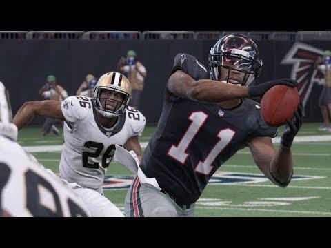 NFL Thanksgiving New Orleans Saints Vs Atlanta Falcons Full Game | NFL Today 11/28 (Madden)