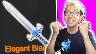 I GOT THIS RARE EXOTIC KNIFE IN ROBLOX ASSASSIN!! (Elegant Blade)