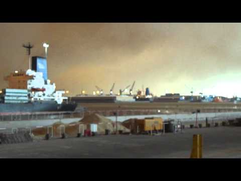 Sand Storm Dubai Ports