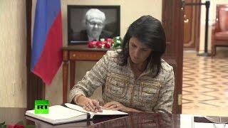 Коллеги Чуркина в ООН оставили запись в книге соболезнований