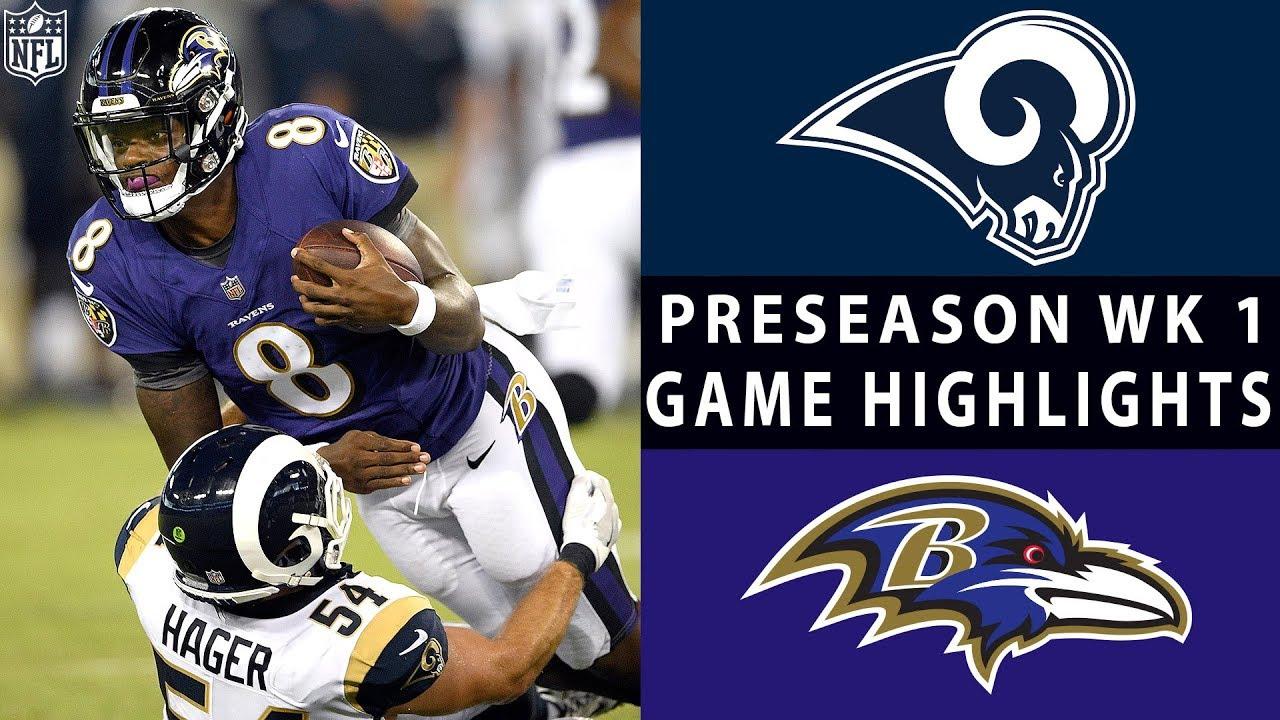 Rams vs. Ravens Highlights   NFL 2018 Preseason Week 1