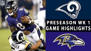Rams vs. Ravens Highlights | NFL 2018 Preseason Week 1
