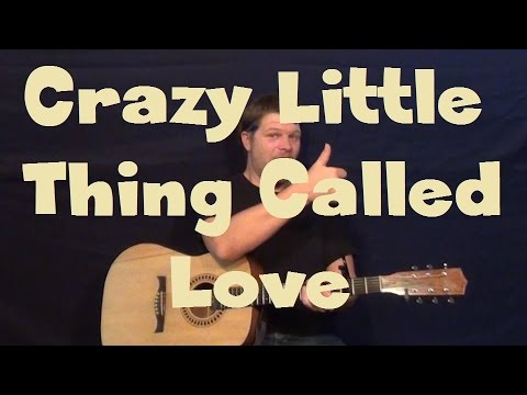 Crazy Little Thing Called Love (Queen) Easy Strum Guitar Lesson How ...
