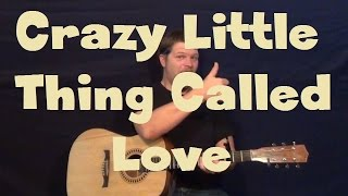 Crazy Little Thing Called Love (Queen) Easy Strum Guitar Lesson How to Play Tutorial