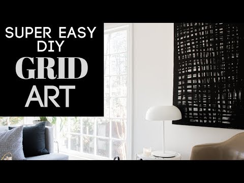SUPER EASY DIY Grid Abstract Art + Competition!  See Who Gets The Most Votes!