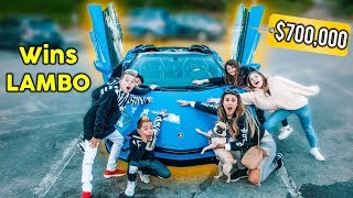 LAST TO Remove Hand Wins LAMBORGHINI AVENTADOR Challenge | The Royalty Family