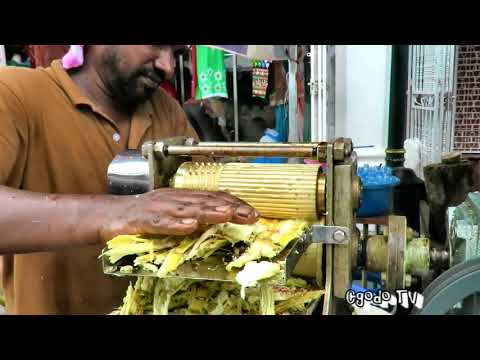 Sugarcane Juice At Little India Ramadan Bazaar Penang // Malaysia Street  Food