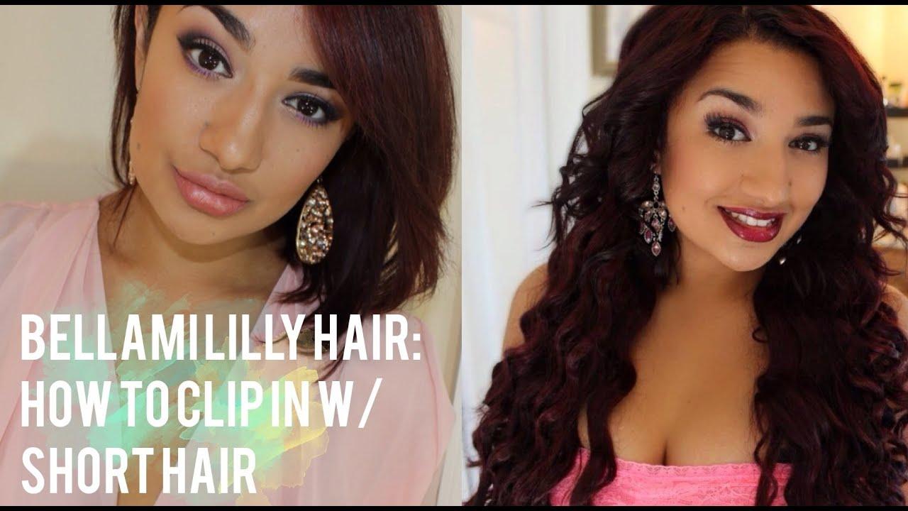 Bellami Lilly Hair How To Clip In W Short Hair Mermaid Wave