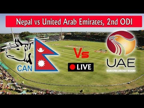 UAE VS NEPAL | 2nd Day ODI Match