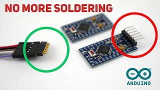 How to program arduino pro mini without soldering on pins