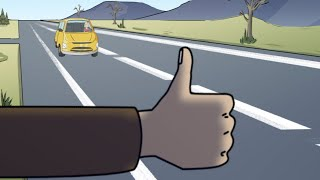 Hitchhiking True Horror Story Animated