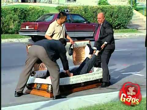 Epic Old Man - Casket Dead Man - hidden camera Gags
