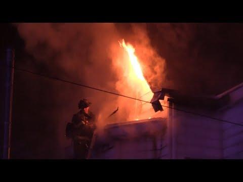 Paterson NJ Fire Dept 2nd Alarm Fire 412 Rosa Parks Blvd 12-27-17
