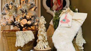 7 EASY DIY DOLLAR STORE SHABBY CHIC FARMHOUSE CHRISTMAS ORNAMENTS & DECOR PIECES PART 1 (196)