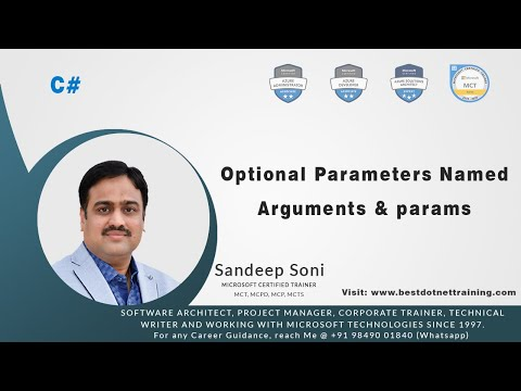 C# Tutorial | Optional Parameters Named Arguments And Params
